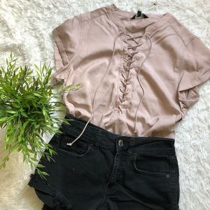 Express Tie Up Blouse